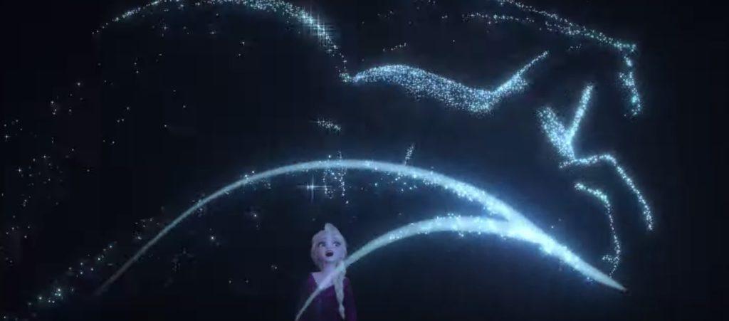 アナと雪の女王2 英語版予告 白馬の水の妖精